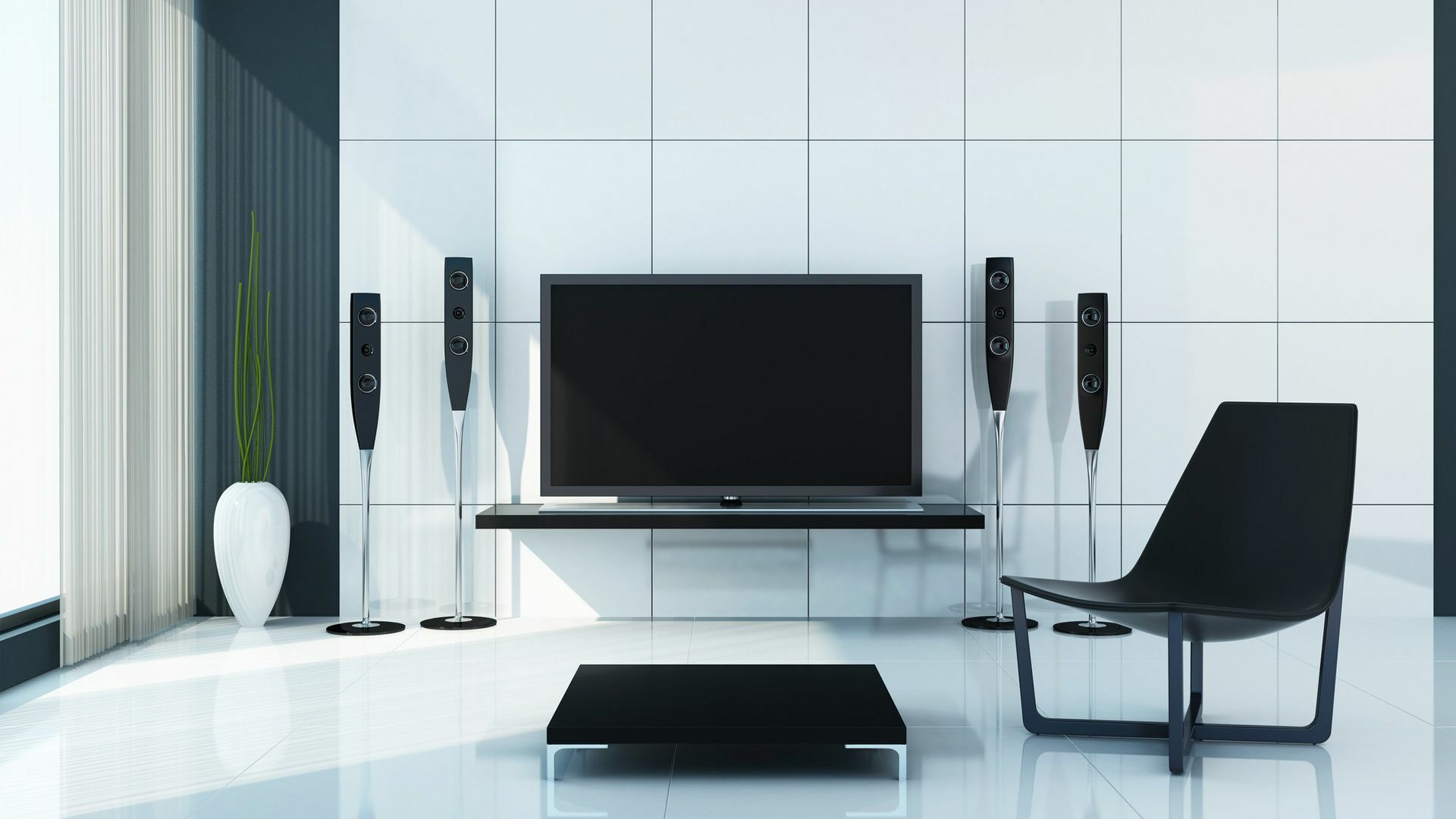 Modernes Home Cinema